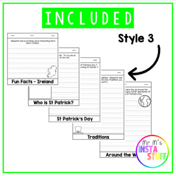 St Patrick's Day Flip book - Writing - Literacy - ALL STAGES