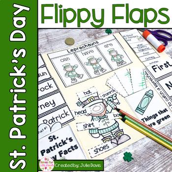 St. Patrick's Day Flippy Flaps Interactive Notebook Lapbook