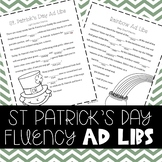 St. Patrick's Day Fluency Enhancing Ad Libs (Stuttering Therapy)