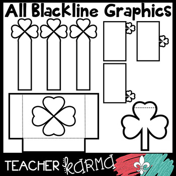 St. Patrick's Day Foldables, Interactives, Flip Book Templates