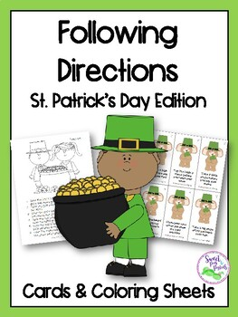St. Patrick's Day Following Directions Cards & Coloring Sheets