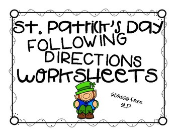 St. Patrick's Day Following Directions Worksheets