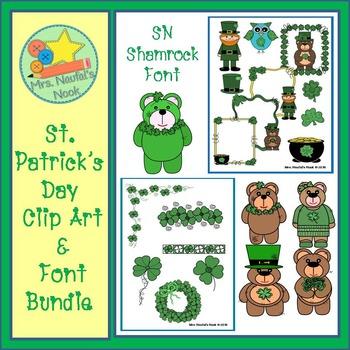 St.Patrick's Day Clip Art and Font Bundle
