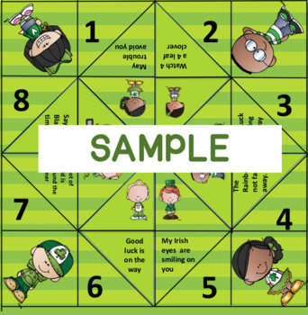 St. Patrick's Day Fortune Teller Game