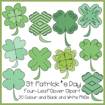 St Patrick's Day Four Leaf Clover Clipart