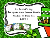 St. Patrick's Day Fourth Grade NBT Math Stations PART 1