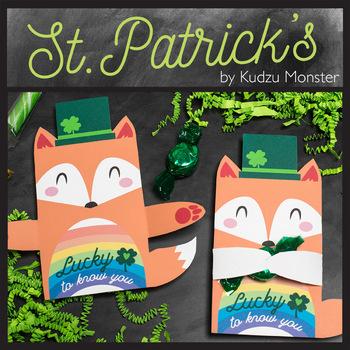 St. Patrick's Day Fox Leprechaun Candy Huggers