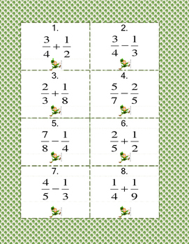 St. Patrick's Day Fraction Scoot