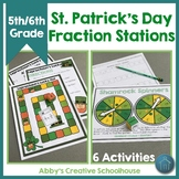 St. Patrick's Day Math Fraction Activities