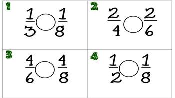 St. Patrick's Day Fraction Task Cards
