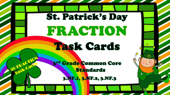 St. Patrick's Day Fraction Task Cards