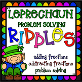 St. Patrick's Day Fractions Riddle - Problem Solving - Two