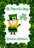St Patrick's Day Fractions Unit