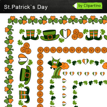 St. Patrick's Day Frame Borders