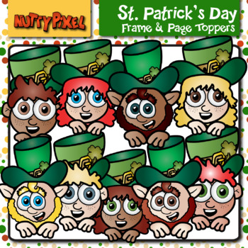 St. Patrick's Day Frame and Page Toppers - Clipart