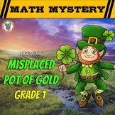 1st Grade St. Patrick's Day Math Activity -  St. Patrick's Day Math Mystery