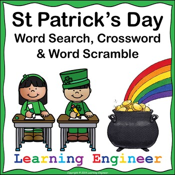 St Patricks Day Word Search (St Patricks Day Scramble) St