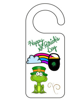 St Patrick's Day Free Door Hanger