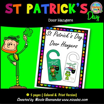 St Patrick's Day Free Door Hanger