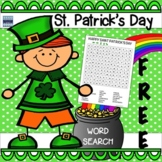 St. Patrick's Day Word Search:  Free