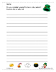 St. Patrick's Day Free Writing Activities & Word Search
