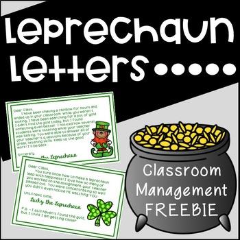 Free St. Patrick's Day {Behavior Management Printables}