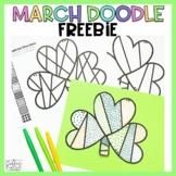 St. Patrick's Day Freebie Shamrock Doodle