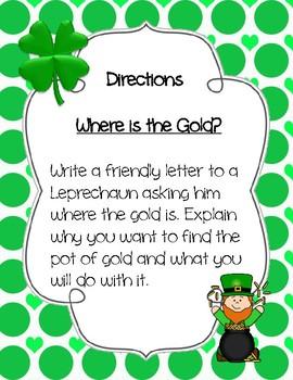 St. Patrick's Day Friendly Letter