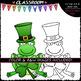 St. Patrick's Day Frogs - Clip Art & B&W Set