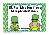 St. Patrick's Day Frogs Multiplication Race