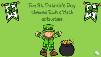 St. Patrick's Day Fun-- ELA, Math & Kindness activities