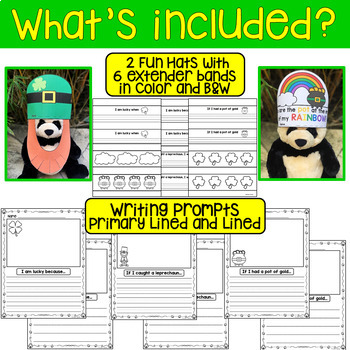 St. Patrick's Day Fun Hats and Writing Prompts