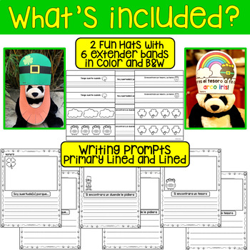 St. Patrick's Day Hats and Writing Prompts *Spanish Edition*