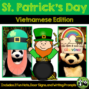 St. Patrick's Day Hats and Writing Prompts *Vietnamese Edition*