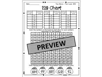 120 Chart, Missing Addends, Fractions,Games & Puzzles for St. Patrick's Day Fun!