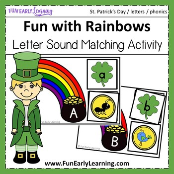 St. Patrick's Day Fun with Rainbows Letter-Sound Correspondence