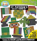 St. Patrick's Day Fuzzy Pom-Poms Clipart {Zip-A-Dee-Doo-Dah Designs}