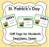 St. Patrick's Day GIFT TAG for coworkers, team, students, class, teacher