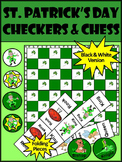 St. Patrick's Day Fun Activities: St. Patrick's Day Checkers & Chess Games
