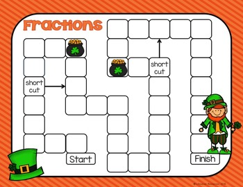 St. Patrick's Day Fractions Game