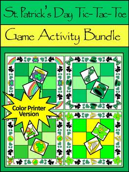 St. Patrick's Day Game Activities: St. Patrick's Day Tic-Tac-Toe Game Activity