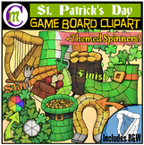 St. Patrick's Day Game Boards Clipart