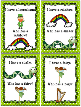 "St. Patrick's Day - Game ""I have... Who has...?"""