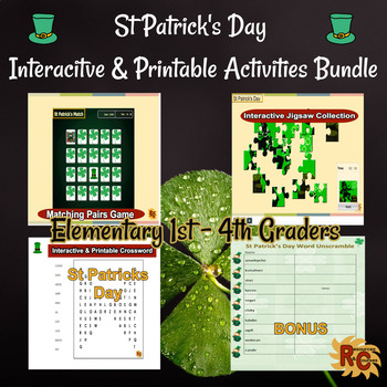 St Patrick's Day Game & Puzzles Fun Bundle Grade 1 - 4