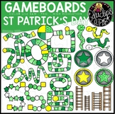 St Patrick's Day Gameboard Clip Art Set {Educlips Clipart}