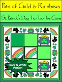 St. Patrick's Day Games: Pots of Gold & Rainbows Tic-Tac-Toe Game Activity