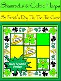 St. Patrick's Day Games: Shamrocks & Celtic Harps Tic-Tac-Toe Game Activity