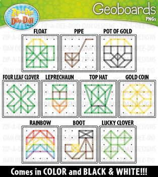 St. Patrick's Day Geoboards Clipart {Zip-A-Dee-Doo-Dah Designs}
