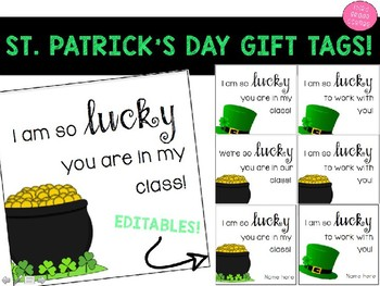 St. Patrick's Day Gift Tags!