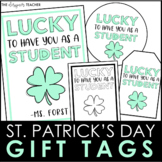 St. Patrick's Day Gift Tags | Student Gift Tags